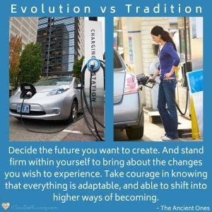 Evolution vs Tradition